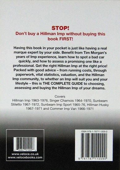 Picture of HILLMAN IMP THE ESSENTIAL BUYER'S GUIDE All models including Singer, Sunbeam & Commer 1963 to 1976
