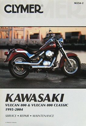 Picture of KAWASAKI VULCAN 800 & VULCAN 800 CLASSIC 1995-2004 CLYMER REPAIR MANUALS M354-2