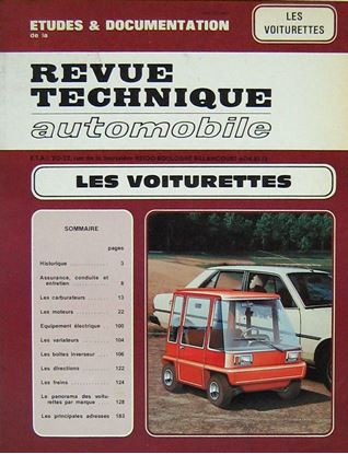 "Picture of LES VOITURETTES. Serie ""Revue Technique Automobile"""