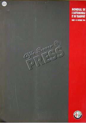 Picture of ALFA ROMEO PRESS RELEASE PARIS SALON MONDIAL DE L'AUTOMOBILE ET DU TRANSPORT 10-1996