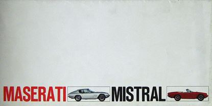 Picture of MASERATI MISTRAL Depliant Originale