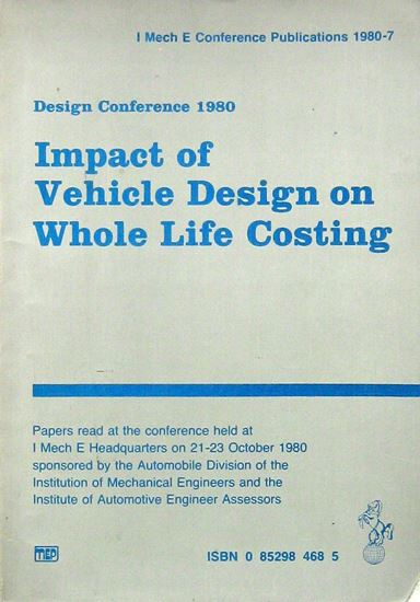 Immagine di IMPACT OF VEHICLE DESIGN ON WHOLE LIFE COSTING