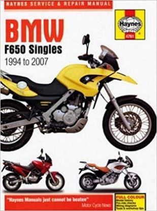 Picture of BMW F650 SINGLES 1994 TO 2007 OWNERS WORKSHOP MANUAL N.4761