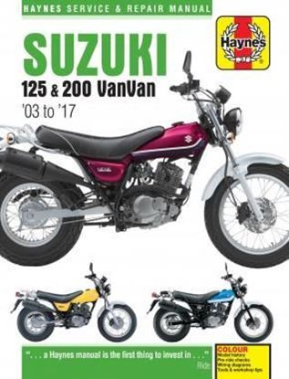 Picture of SUZUKI125 & 200 VanVan '03 to '17 SERVICE & REPAIR MANUAL N.6355