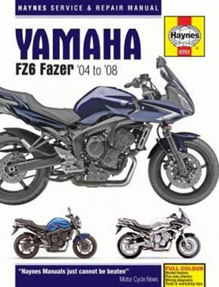 Picture of YAMAHA FZ6 FAZER 2004-08 OWNERS WORKSHOP MANUAL N. 4751