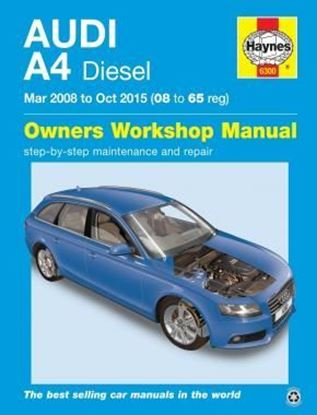 Picture of AUDI A4 DIESEL Mar 2008 to Oct 2015 (08 to 65 Reg)  OWNER WORKSHOP MANUAL N. 6300