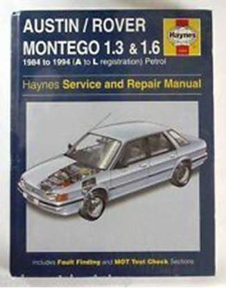 Picture of AUSTIN ROVER MONTEGO 1.3 & 1.6 1984-1994 OWNERS WORKSHOP MANUAL N.1066