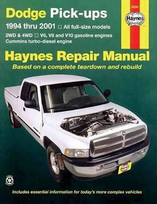 Picture of DODGE PICK-UPS 1994-2001 N. 30041 OWNERS WORKSHOP MANUAL