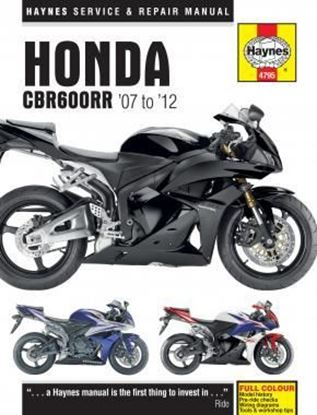 Picture of HONDA CBR 600 RR 2007-2012 OWNERS WORKSHOP MANUAL N. 4795