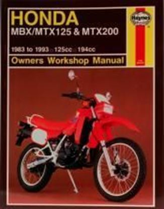Picture of HONDA MBX MTX 125 & MTX 200 1983-1993 OWNERS WORKSHOP MANUAL N. 1132