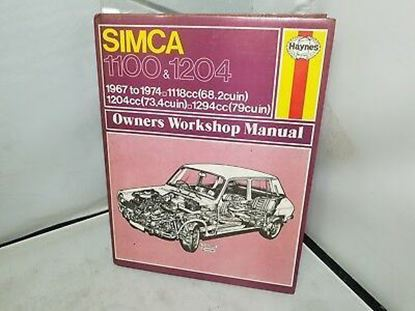 Picture of SIMCA 1100 & 1204 1967-79 N. 088 OWNERS WORKSHOP MANUALS