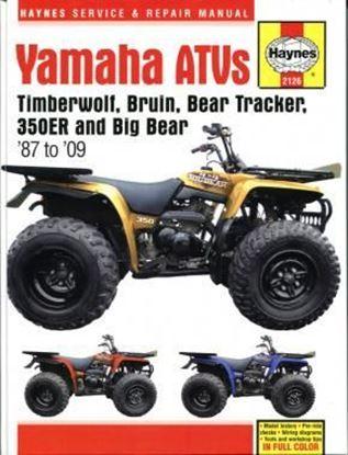 Picture of YAMAHA ATVs TIMBERWOLF BRUIN BEAR TRACKER 350ER & BIG BEAR '87-09 OWNERS WORKSHOP MANUAL N. 2126