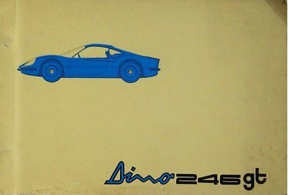 Picture of FERRARI DINO 246 GT 1969 CATALOGO PARTI DI RICAMBIO/CATALOGUE DES PIECES DE RECHANGE/SPARE PARTS CATALOGUE