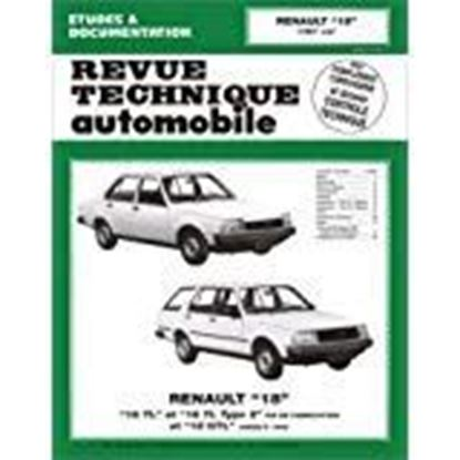 "Picture of RENAULT 18 TL, 18 GTL, TYPE 2 1978-86. SERIE ""REVUE TECHNIQUE AUTOMOBILE"" N. 384"