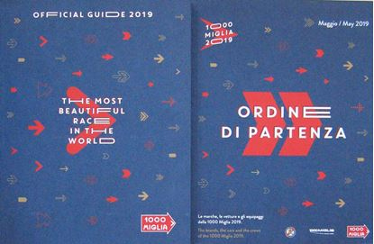 Picture of MILLE MIGLIA OFFICIAL GUIDE 2019 + ORDINE DI PARTENZA