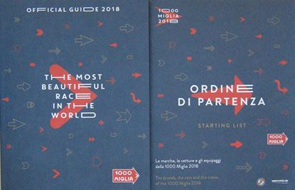 Picture of MILLE MIGLIA OFFICIAL GUIDE 2018 + ORDINE DI PARTENZA