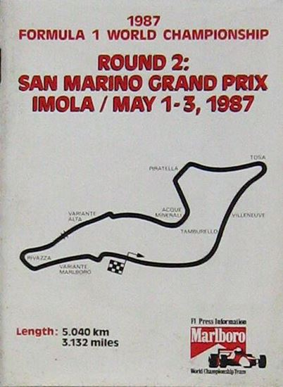 Immagine di SAN MARINO GRAND PRIX IMOLA MAY 1-3 1987: ROUND 2