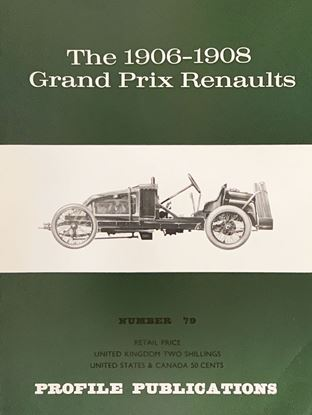Picture of THE 1906-1908 GRAND PRIX RENAULTS PROFILE PUBLICATION N.79