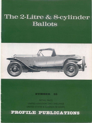 Picture of THE 2 LITRE & 8 CYLINDER BALLOTS PROFILE PUBLICATION N.93