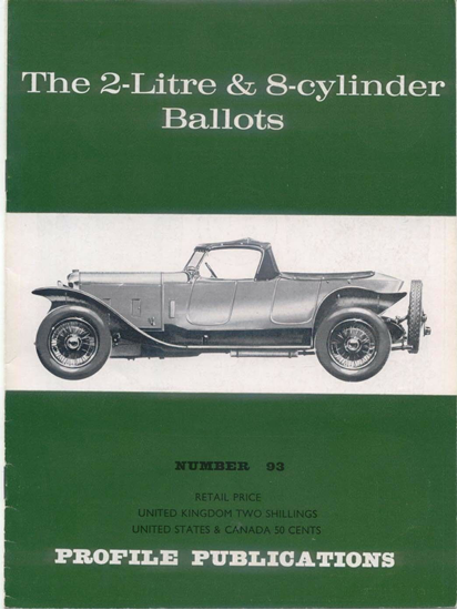 Immagine di THE 2 LITRE & 8 CYLINDER BALLOTS PROFILE PUBLICATION N.93