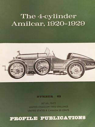 Picture of THE 4 CYLINDER AMILCAR 1920 1929 PROFILE PUBLICATION N.62