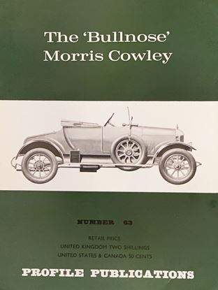 Picture of THE BULLNOSE MORRIS COWLEY PROFILE PUBLICATION N.63