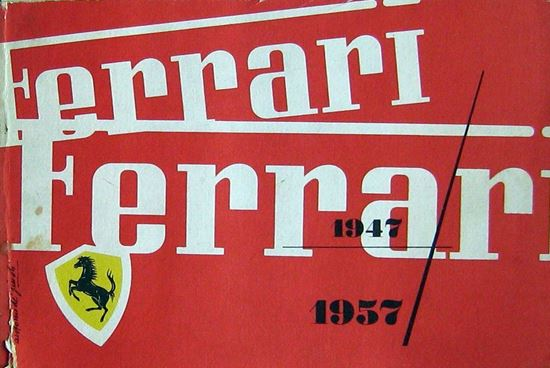 Picture of FERRARI ANNUARIO 1947/1957 - Original yearbook with card of Enzo Ferrari
