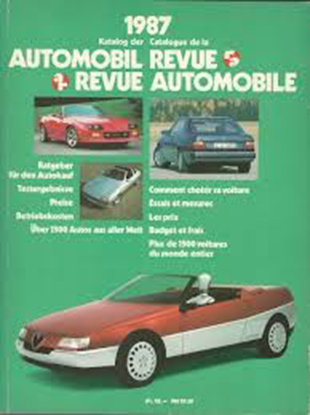 Picture of AUTOMOBIL REVUE 1986