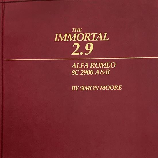 Picture of THE IMMORTAL 2.9 ALFA ROMEO 8C 2900 A&B  First 1986 edition