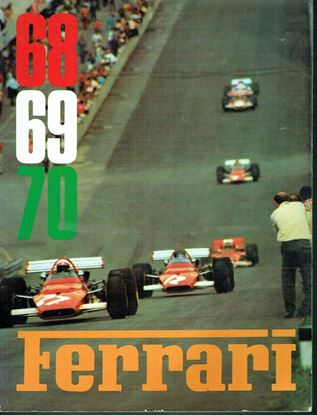 Picture of FERRARI ANNUARIO/OFFICIAL YEARBOOK 1968/69/70 SIGNED BY ANDRETTI, GIUNTI, MERZARIO, REGAZZONI, SCHETTI, VACCARELLA  + OFFICIAL DINNER MENU 12/12/1970