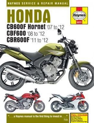 Picture of HONDA CB 600F HORNET CBF 600 & CBR 600F 2007-2012 SERVICE & REPAIR MANUAL N. 5572