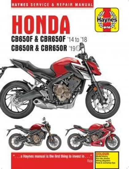 Picture of HONDA CB 650F & CBR 650F/CB 650R & CBR 659R 1914-1919.  SERVICE & REPAIR MANUAL N. 6461