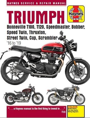 Immagine di TRIUMPH BONNEVILLE 2016-19 T100, T120, SPEEDMASTER, BOBBER, SPEED TWIN, THRUSTON, STREET TWIN, CUP, SCRAMBLER. SERVICE AND REPAIR MANUAL N. 6401