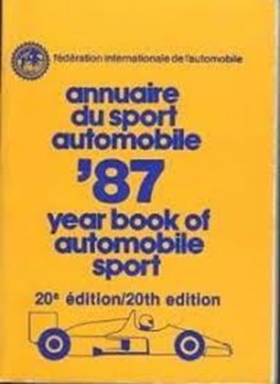 Immagine di FIA 1987 ANNUAIRE DU SPORT AUTOMOBILE/YEARBOOK OF AUTOMOBILE SPORT