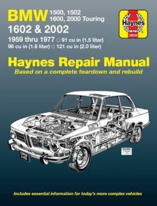 Picture of BMW 1500 1502 1600 1602 2000 & 2002 1957/1977. OWNER WORKSHOP MANUAL N. 18050