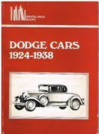 """Picture of DODGE CARS 1924/38. Serie """"Brooklands Books"""""""
