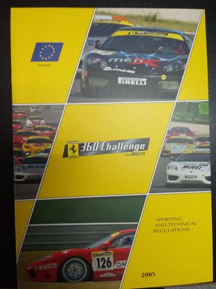 Immagine di FERRARI 360 CHALLENGE TROFEO PIRELLI 2005: SPORTING AND TECHNICAL REGULATIONS