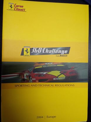 Immagine di FERRARI CORSE CLIENTI 360 CHALLENGE TROFEO PIRELLI 2004: SPORTING AND TECHNICAL REGULATIONS