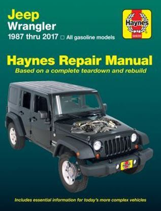 Picture of JEEP WRANGLER, 1987-2017 ALL GASOLINE MODELS OWNERS WORKSHOP MANUALS N. 50030