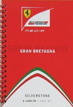 Picture of FERRARI SCUDERIA MEDIA BOOK 2014 GP GRAN BRETAGNA